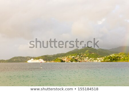 cruise ship, Grand Anse Bay, Grenada Stock photo © phbcz