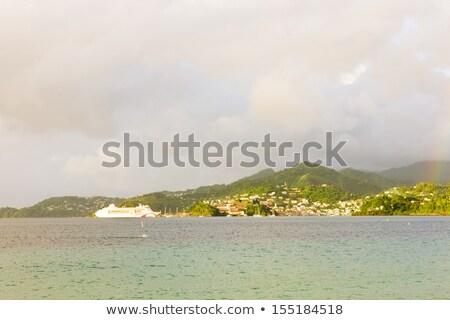 cruiseschip · Grenada · zee · boot · schip · eiland - stockfoto © phbcz