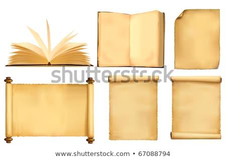 Desatualizado grande livros isolado branco negócio Foto stock © Borissos
