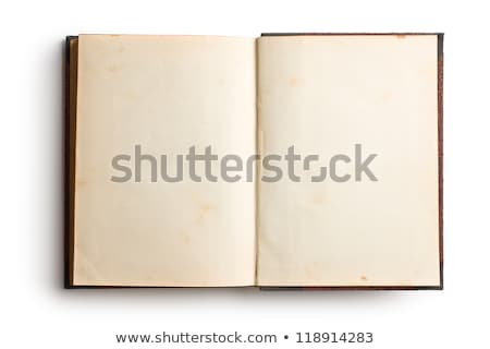an old book with blank yellow stained pages stock photo © latent