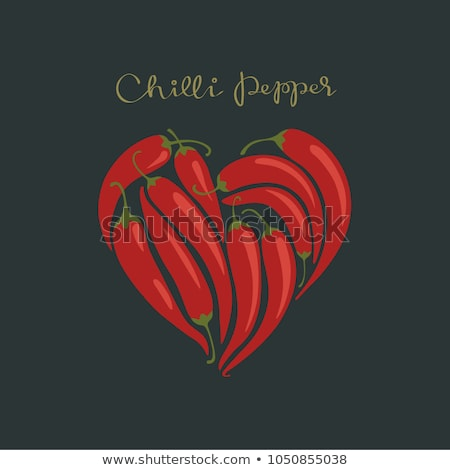 corazón · pimienta · chile · forma · de · corazón · aislado · blanco - foto stock © adamson
