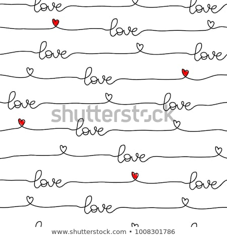 Stock photo: Fabric Red Hearts