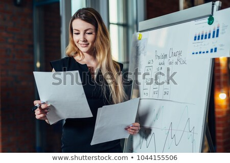 Woman preparing her presentation for a conference Stock photo © photography33