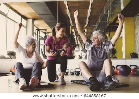 Older couple at the gym stock photo © photography33