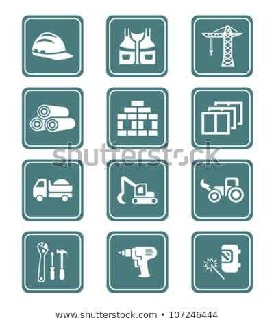 Bouw iconen tools vervoer materieel meer Stockfoto © sahua