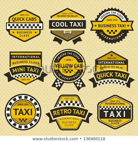 Taxi taxi set etichette business strada Foto d'archivio © Ecelop