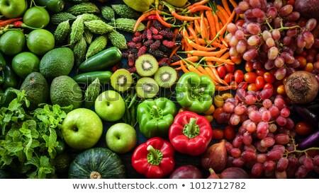 Arrangement of Raw Organic Vegetables Stock photo © zhekos