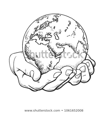 black and white hands holding globe Stock photo © photography33