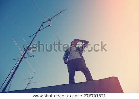 Handsome cool guy looking far away Stock photo © stockyimages