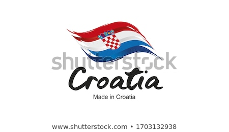Vector etiqueta Croacia color sello venta Foto stock © perysty