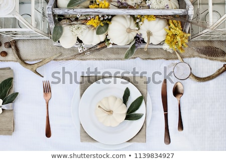 Reserved Holiday Table Setting Stock photo © klsbear
