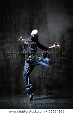 mujer · bailarín · gritando · posando - foto stock © feedough