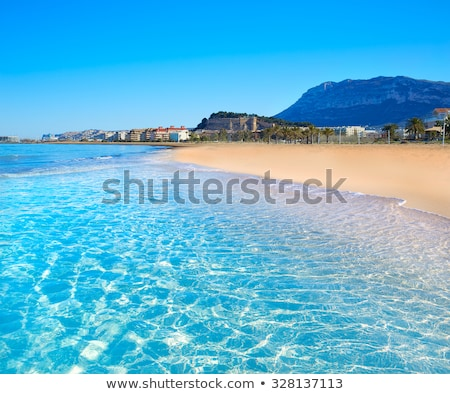 Alicante Denia view from blue calm sea Stock photo © lunamarina