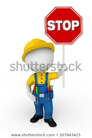 Architect holding stop sign Stock photo © photography33