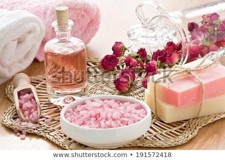 Świeca sól morska kwiaty odizolowany biały piękna Zdjęcia stock © neirfy