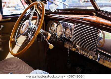Antique car dashboard Stock photo © sumners