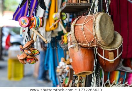 Kleuren Panama jas armen kaart vlag Stockfoto © perysty