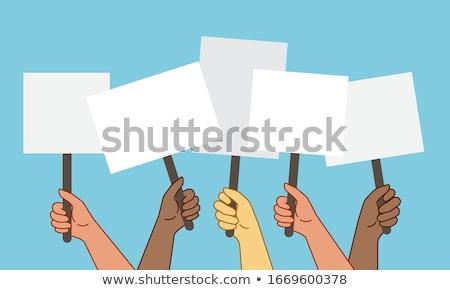 elecciones · anunciante · Cartoon · candidato · feliz · traje - foto stock © pongam
