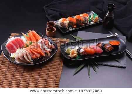 Sushi sashimi Japon mutfak hazır lezzetli Stok fotoğraf © franky242