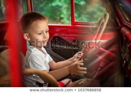 Pequeno menino volante crianças feliz dom Foto stock © photography33
