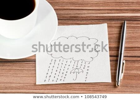 guarda-chuva · guardanapo · copo · café · beber - foto stock © a2bb5s