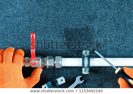 plumber fixing water supply in bathroom stock photo © photography33