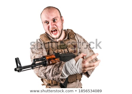 Military man aiming Stock photo © acidgrey