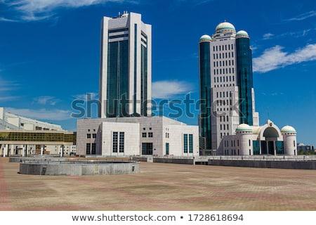 Governo edifícios moderno negócio cidade azul Foto stock © Belyaevskiy