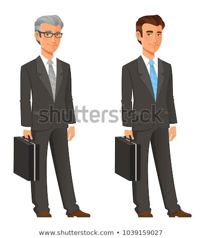 成功した · シニア · ビジネスマン · ブリーフケース · 白 · ビジネス - ストックフォト © get4net