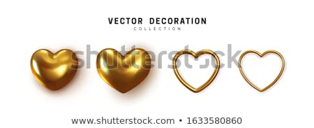 golden hearts 3d stock photo © marinini