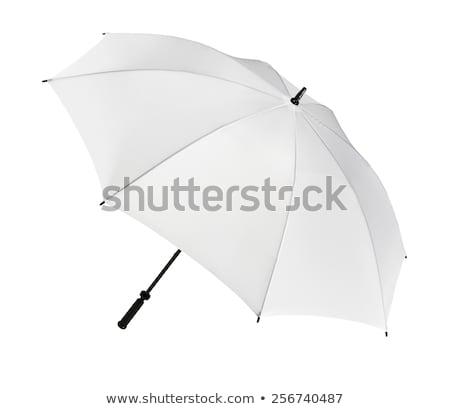 şemsiye · yalıtılmış · beyaz · arka · plan · yağmur · mavi - stok fotoğraf © ozaiachin