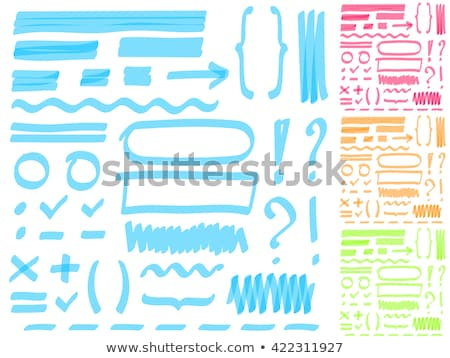 Notepad with red marker text box  Stock photo © gladiolus