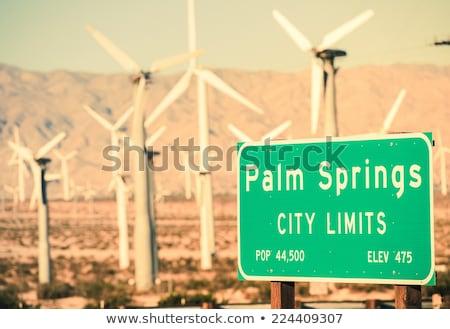 Stock photo: Wind Turbines Coachella Valley Palm Springs California