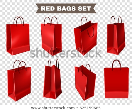 Red paper shopping bag isolated. Shopping concept. Stock photo © Len44ik