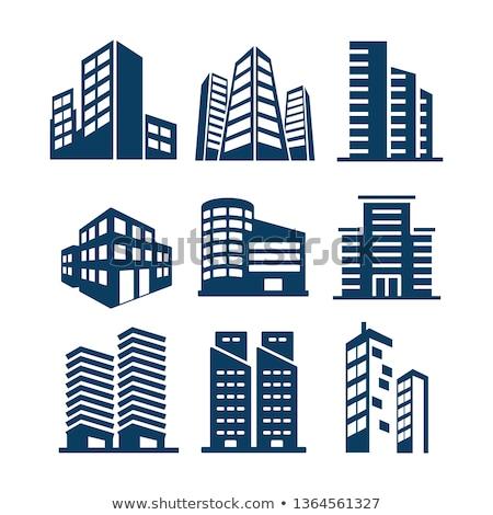 Сток-фото: вектора · икона · небоскреба · здании · город