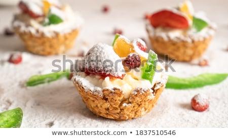 клубники сахар чаши красный клубника десерта Сток-фото © guillermo
