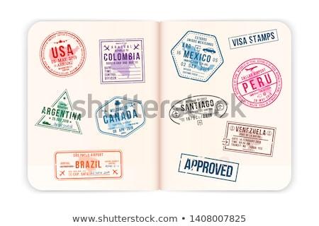 USA Passport Stamped Page Stock photo © eldadcarin