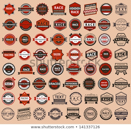 racing badges set   vintage style stock photo © ecelop