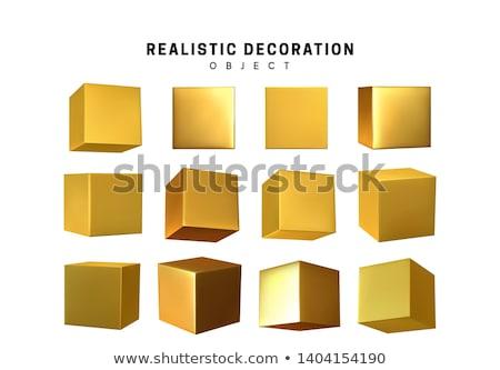 Goud 3d render afbeelding muur verf Stockfoto © ixstudio