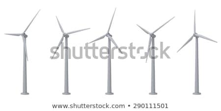 molino · de · viento · campo · nublado · cielo · 3d · sol - foto stock © teamc