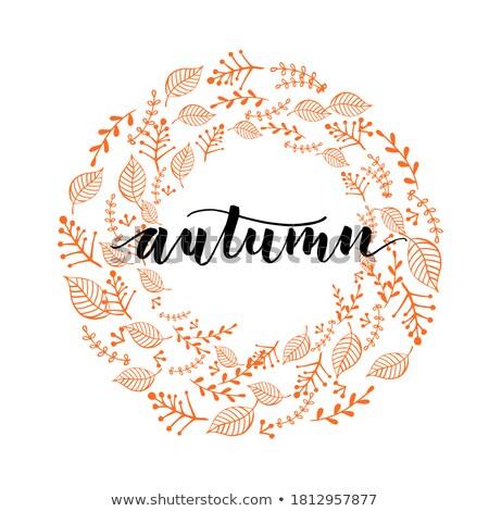 Stock photo: autumn motive