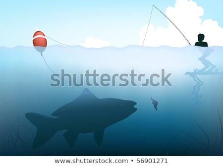 isca · peixe · verme · água · mar · oceano - foto stock © anna_tseliuba