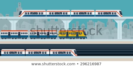 Subterrâneo trem cidade viajar conexão ao ar livre Foto stock © zzve