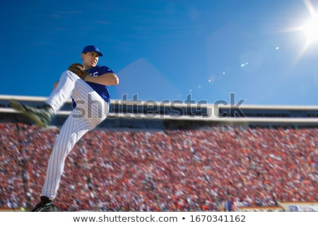 Baseball pitcher preparing to throw ball Stock photo © zzve