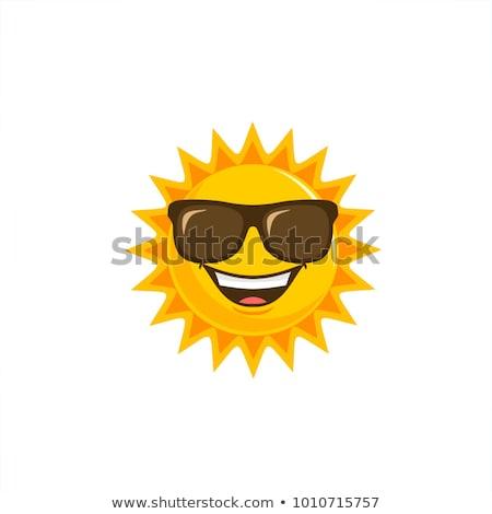 Sole vettore cartoon disegno felice Foto d'archivio © fizzgig