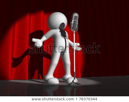 binário · cantando · desenho · animado · cantora · canção · dígitos - foto stock © ribah