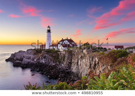 portland head lighthouse maine usa stock photo © phbcz