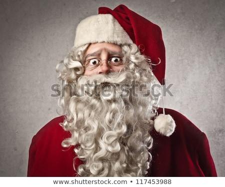мрачный Дед Мороз портрет темно лице фон Сток-фото © HASLOO