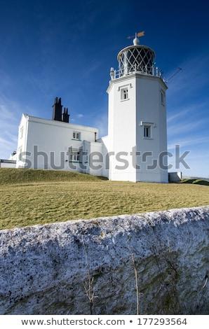 Gyík pont világítótorony borravaló föld Anglia Stock fotó © chris2766