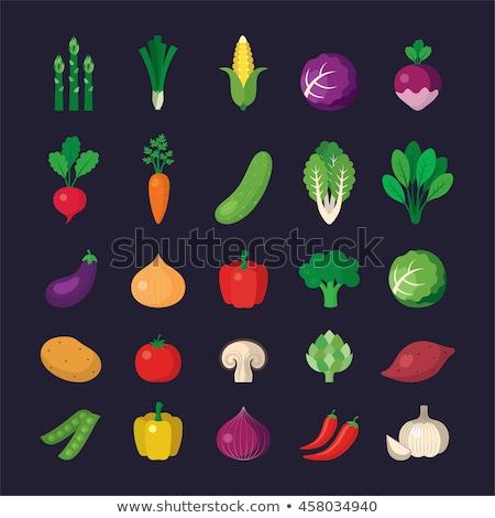 Spenót vöröshagyma kukorica saláta serpenyő étel Stock fotó © Catuncia